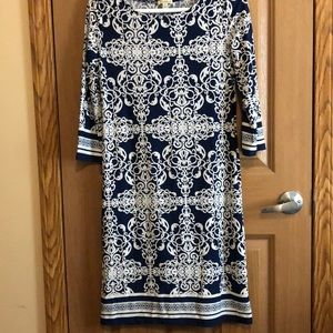 Navy and white dress size S